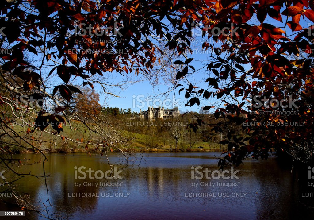 House on the hill. stock photo