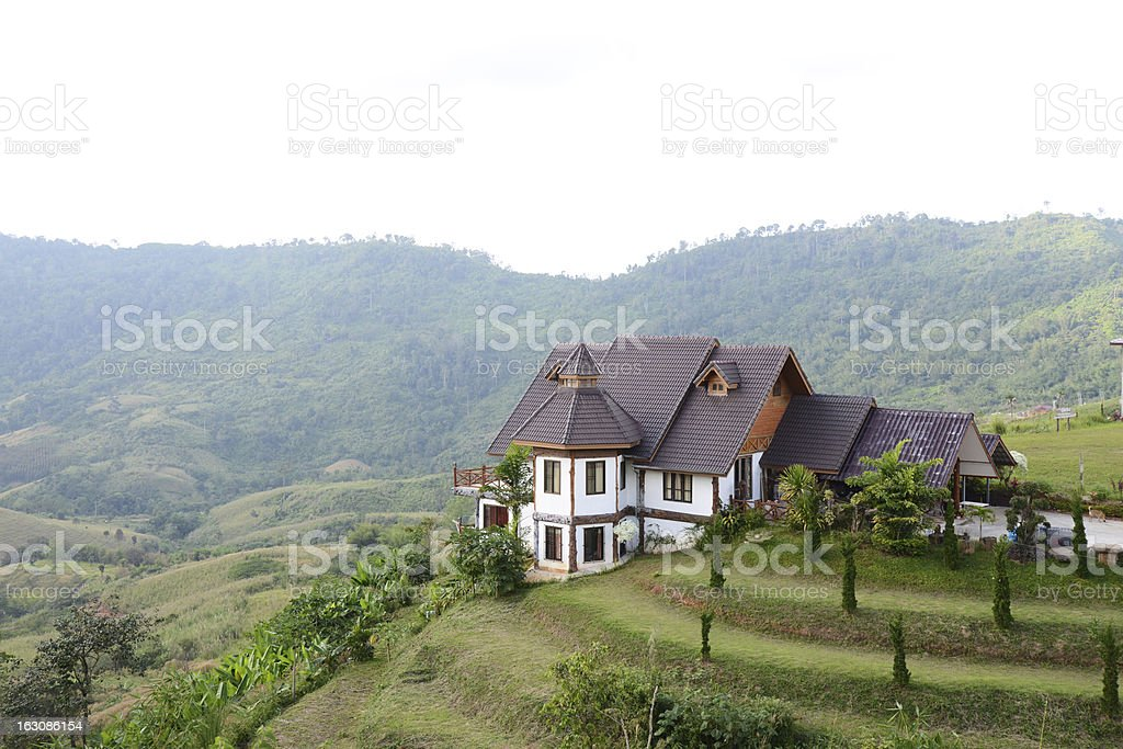 House on the hills in Thailand royalty-free stock photo