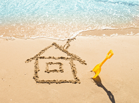 House On The Sand Stock Photo - Download Image Now