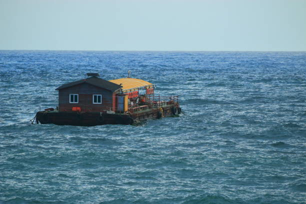 A house on the sea, 바다위에 있는 집 이다. seogwipo stock pictures, royalty-free photos & images