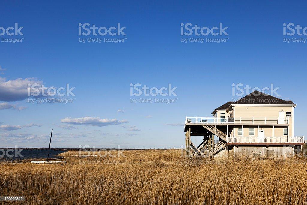 House on the Shore Hamptons Long Island stock photo