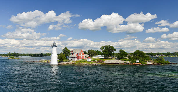 House on the Thousand Islands stock photo
