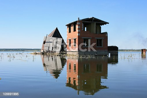 House above a surface of water