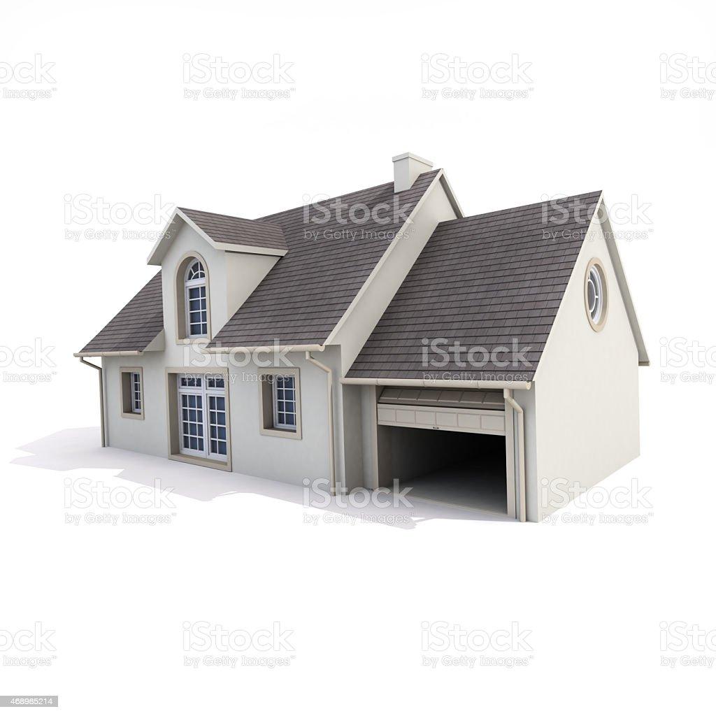 Haus auf weißem Hintergrund – Foto