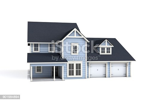 902034612 istock photo 3D House On White Background 901984894