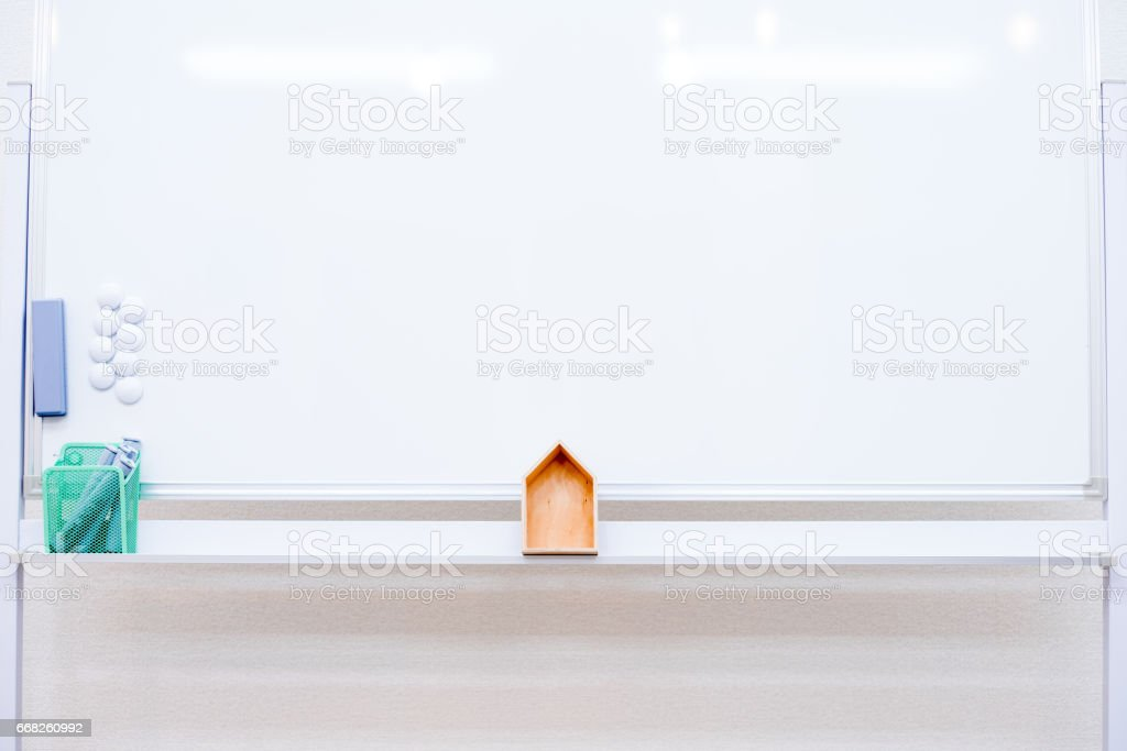 House on whiteboard foto stock royalty-free