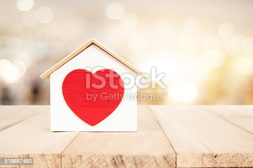 istock House on wooden floor , home concept 516687460