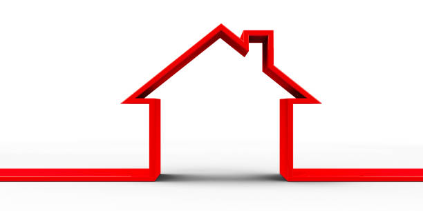 House outline concept #2 stock photo