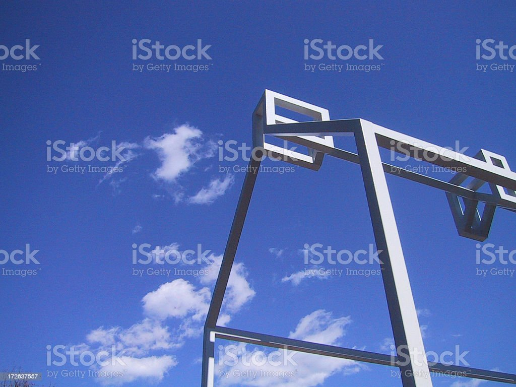 house outline with sky royalty-free stock photo