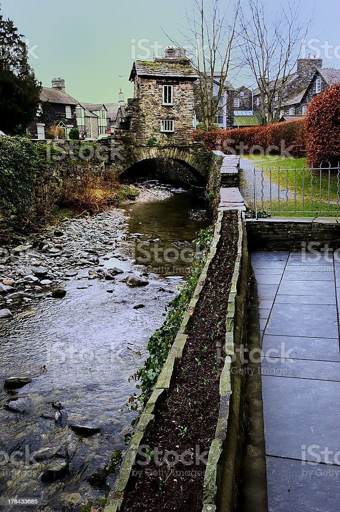 House over the Stream royalty-free stock photo