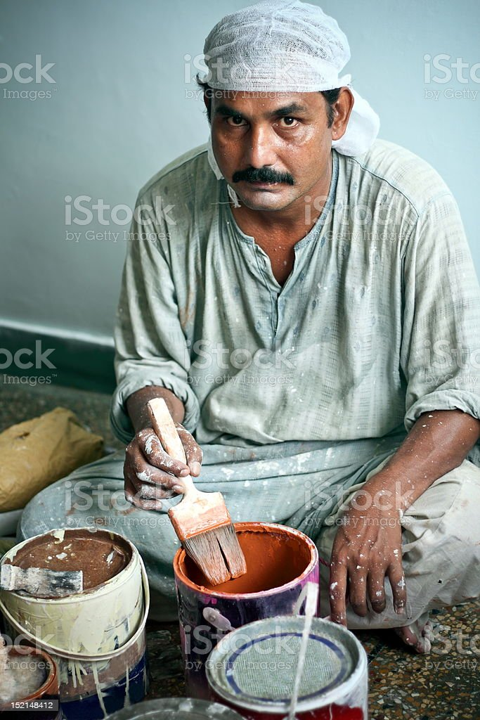 House Painter At Work stock photo