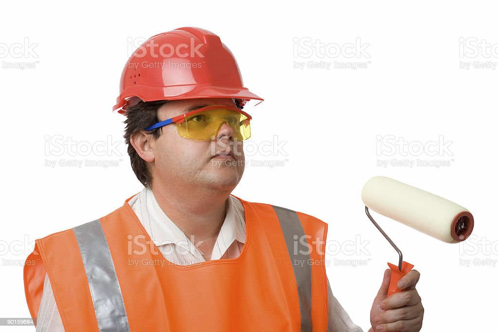 house painter over white royalty-free stock photo
