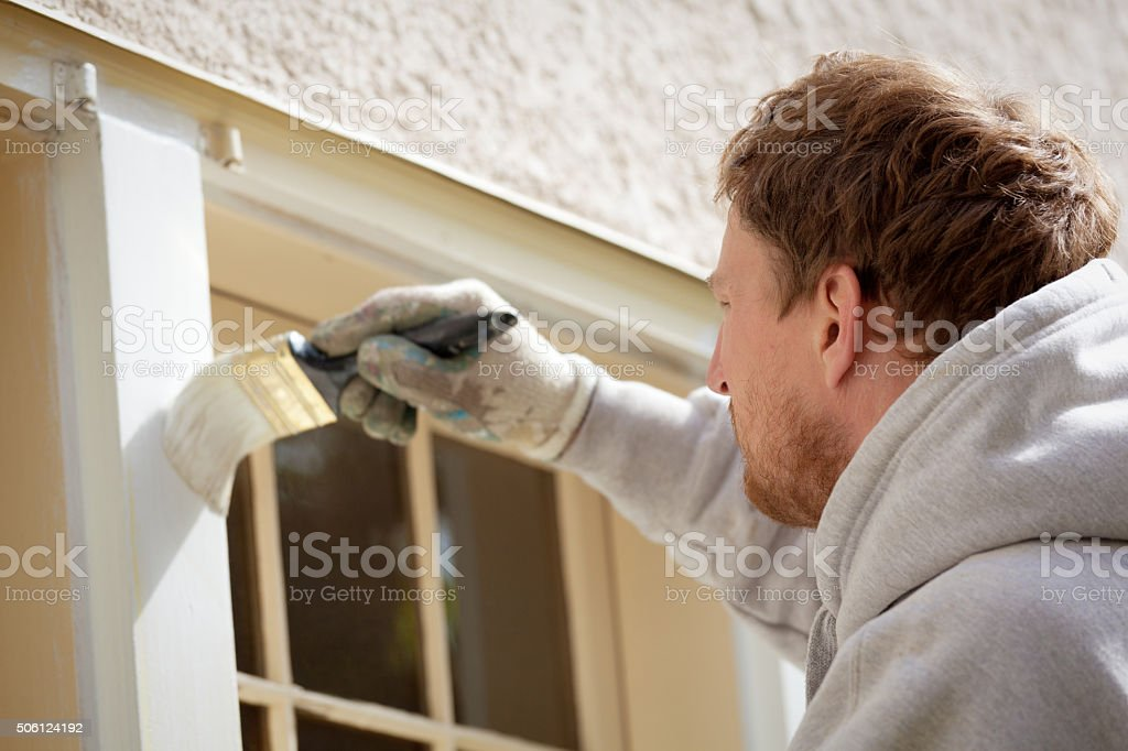 A professional house painter, small construction business...