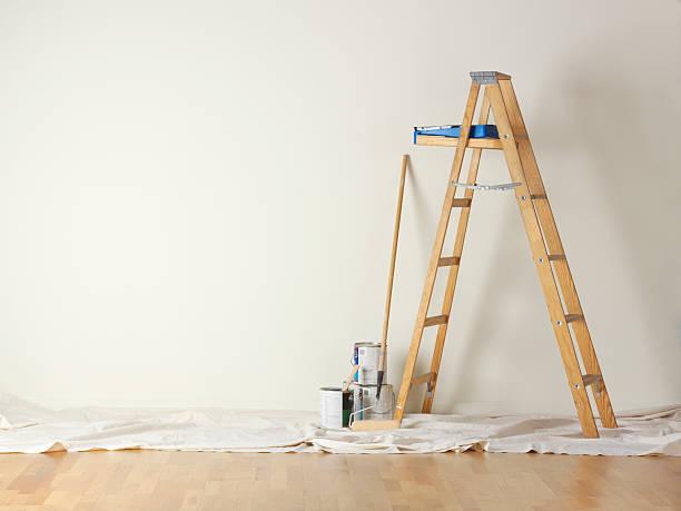 house painting - ladder stockfoto's en -beelden