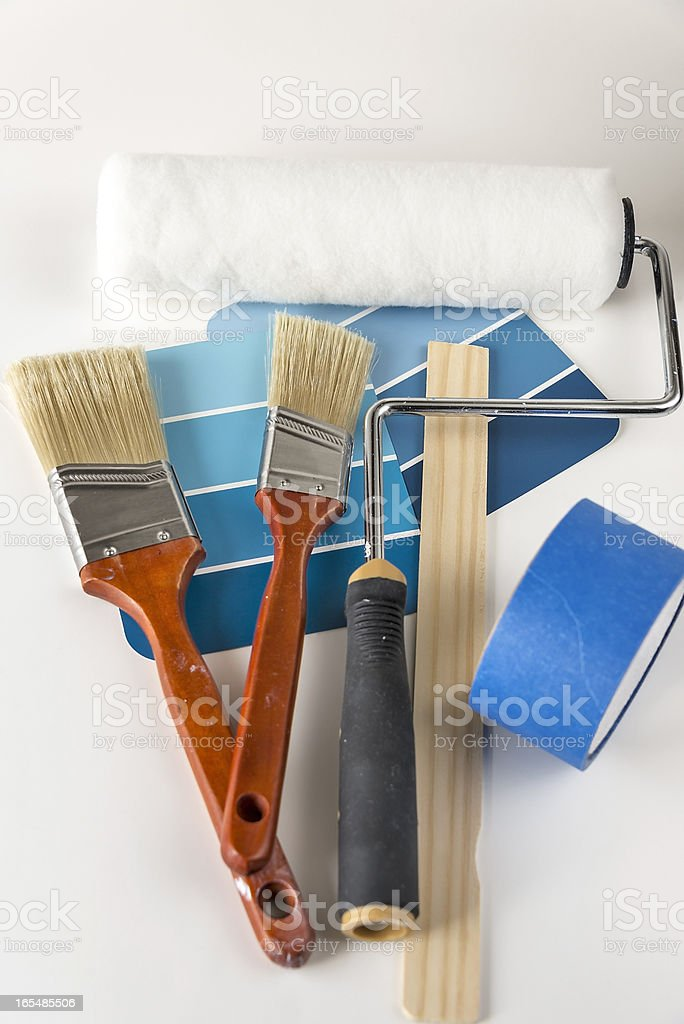 House painting supplies royalty-free stock photo
