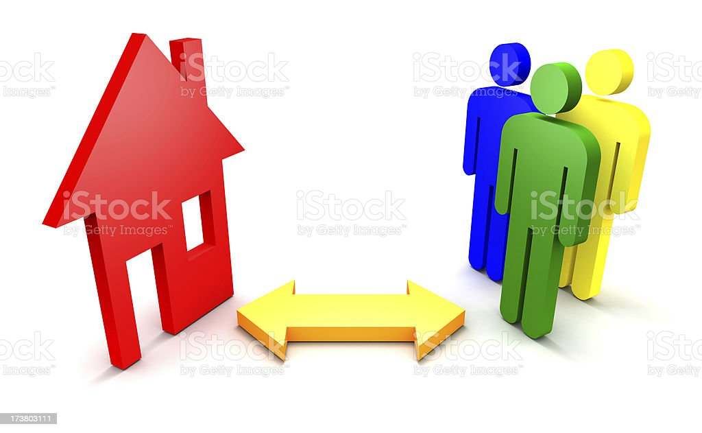 House - People royalty-free stock photo