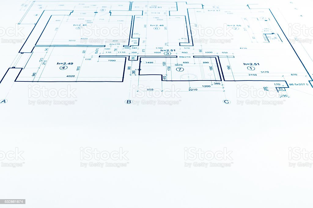 House plan blueprint architectural drawing part of architectur stock house plan blueprint architectural drawing part of architectur royalty free stock photo malvernweather Images