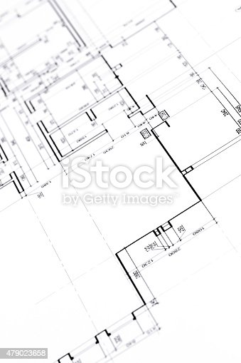 istock house plan blueprints closeup 479023658
