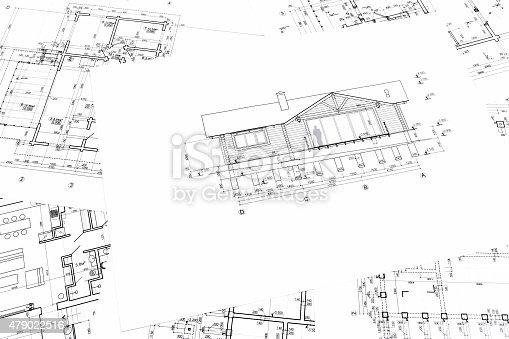 istock house plan blueprints 479022516