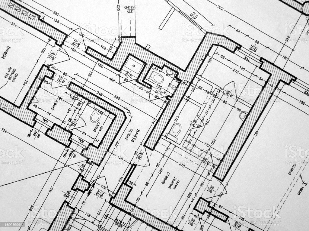 house plan fragment royalty-free stock photo