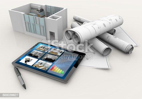 512113530 istock photo house plan 500039627