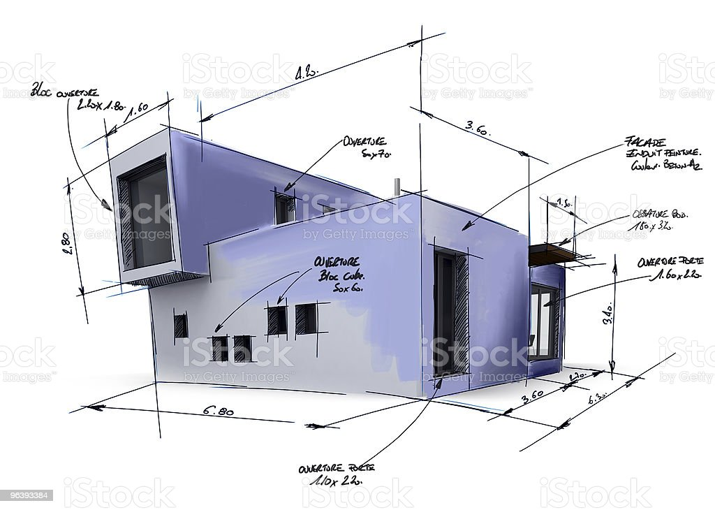 House project draft - Royalty-free Architecture Stock Photo