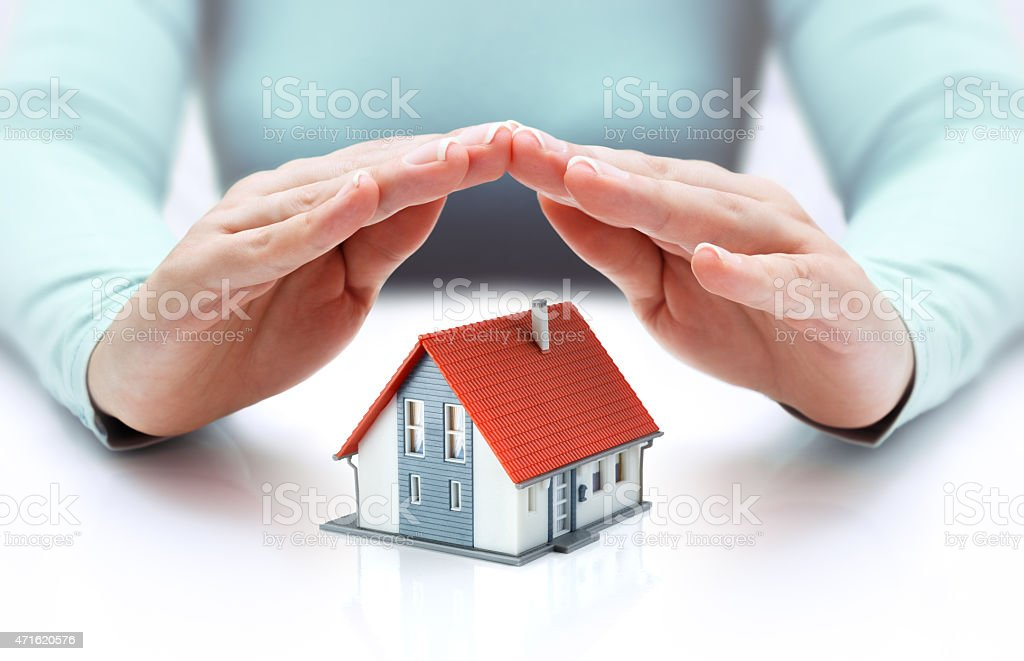 house protect - security concept stock photo