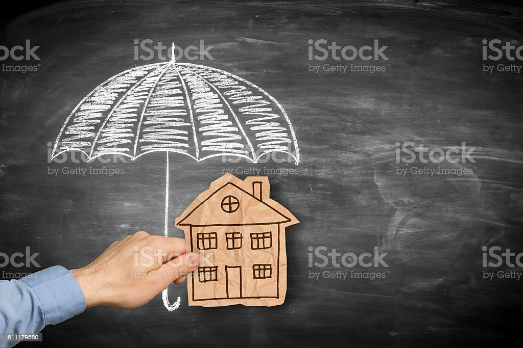 House protection or insurance stock photo
