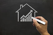 House real estate graph price investment mortgage