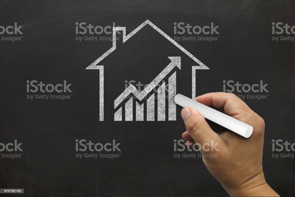 Haus Immobilien Graph Preis Investition Hypothek – Foto