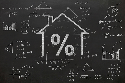 istock House real estate loan mortgage percentage 1066104234