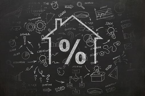 istock House real estate loan mortgage percentage 1069948692