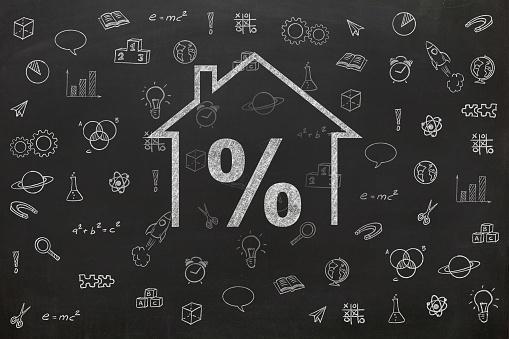 istock House real estate loan mortgage percentage 1081331272