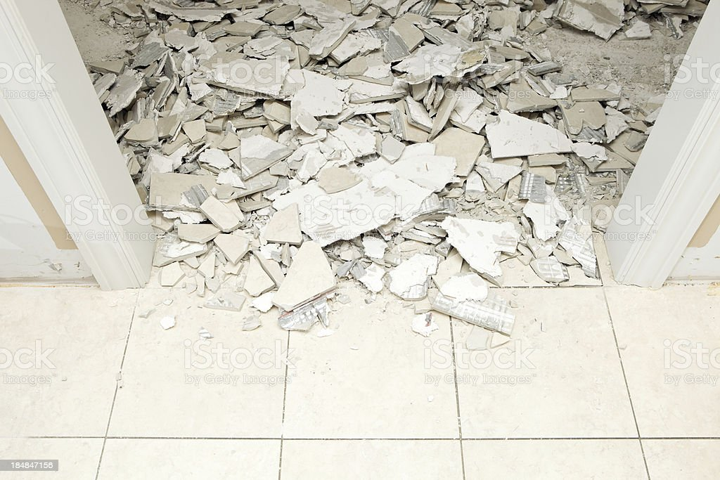 House Remodeling Marble Tile Demolition Stock Photo More Pictures