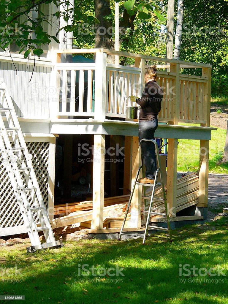 House renovating stock photo