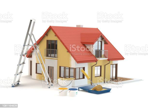 House renovation paint and ladder picture id1081164628?b=1&k=6&m=1081164628&s=612x612&h=ro0gr3cqzp7p0d1w5hvnbvvz2eyfuy7kbjzzl7nu qc=
