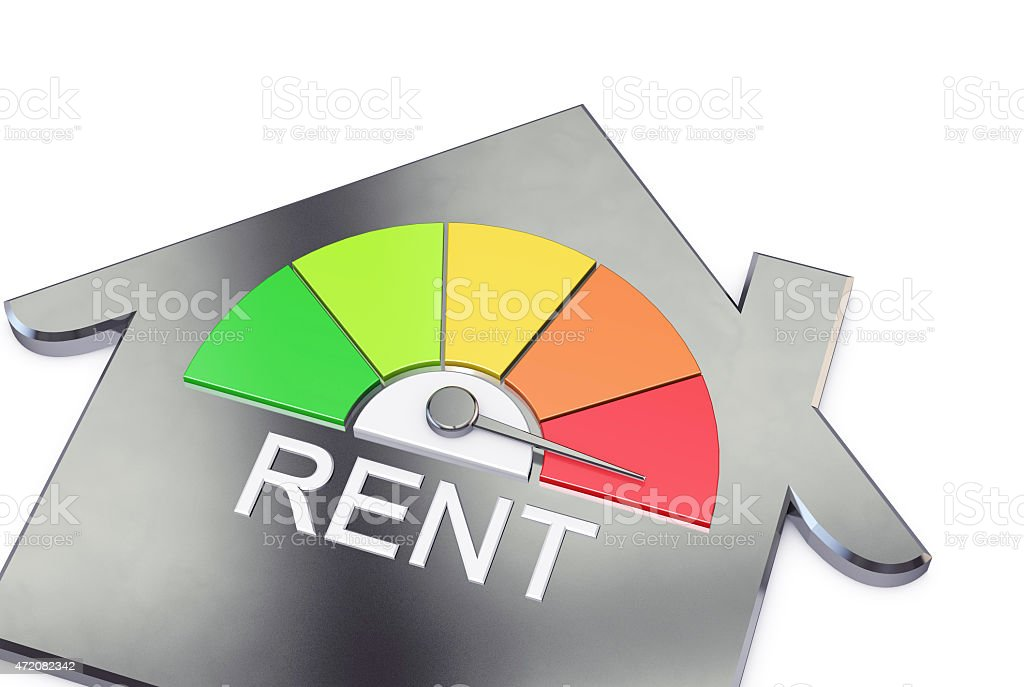 House rent in the red stock photo
