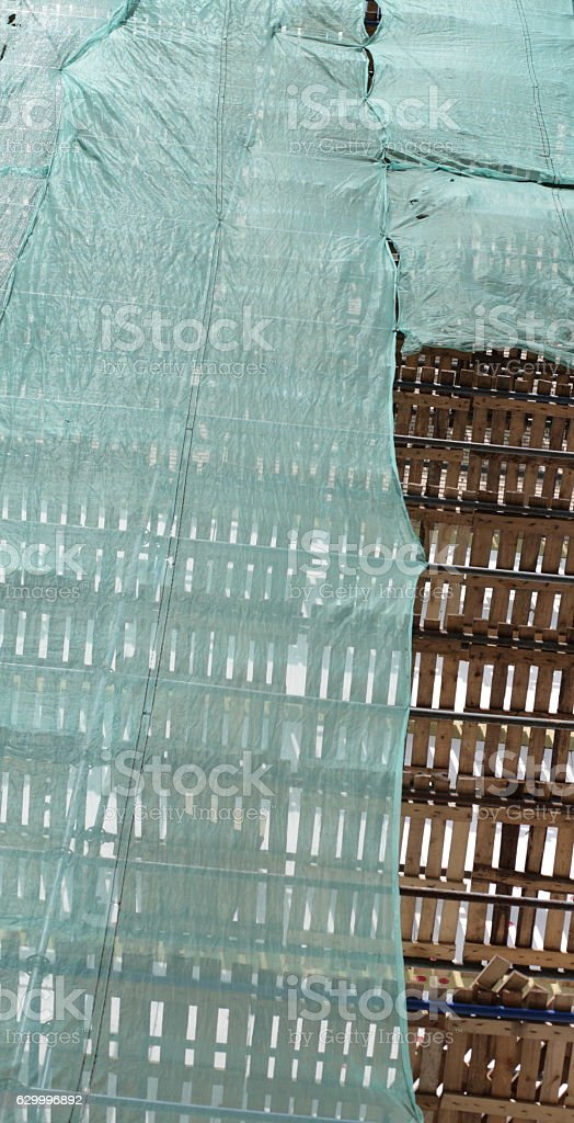 house repair at day stock photo