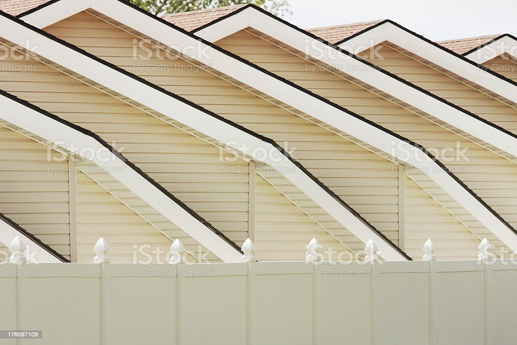 House Roof Gable Eave Architecture Pattern royalty-free stock photo