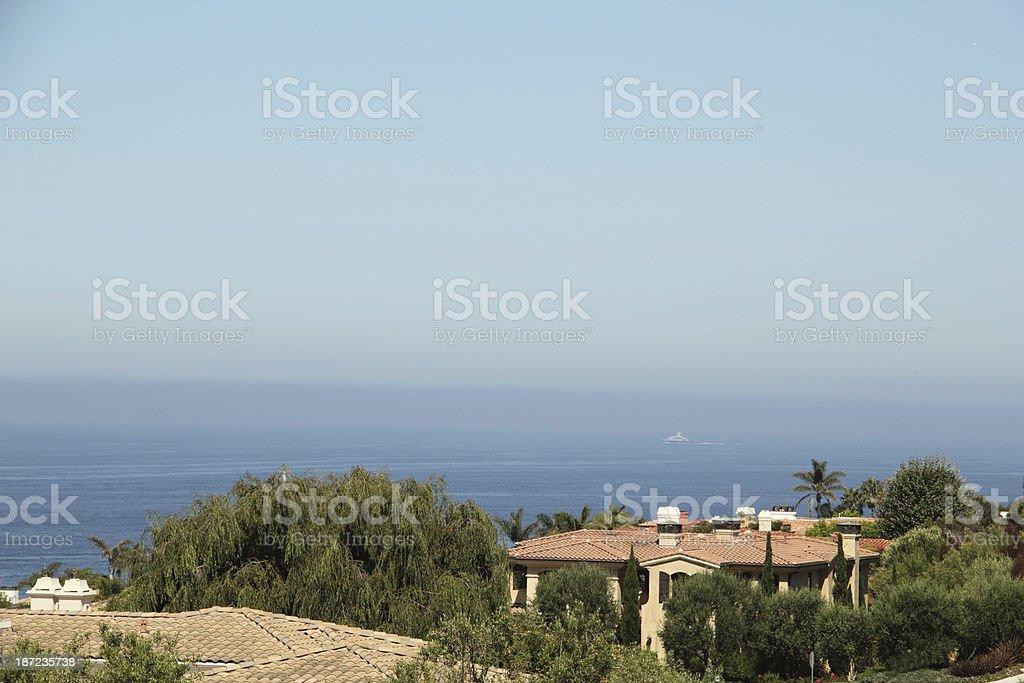 House Roof Pacific Ocean Coast stock photo