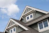House roof peaks