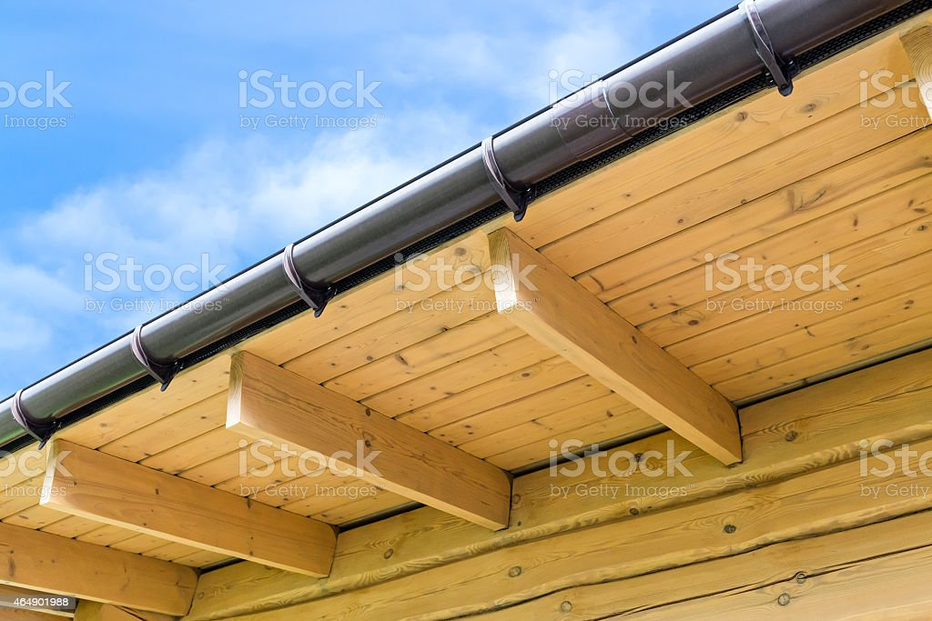 House roof rafters stock photo