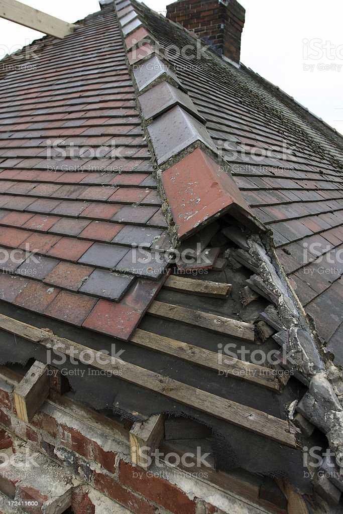house roof repair royalty-free stock photo