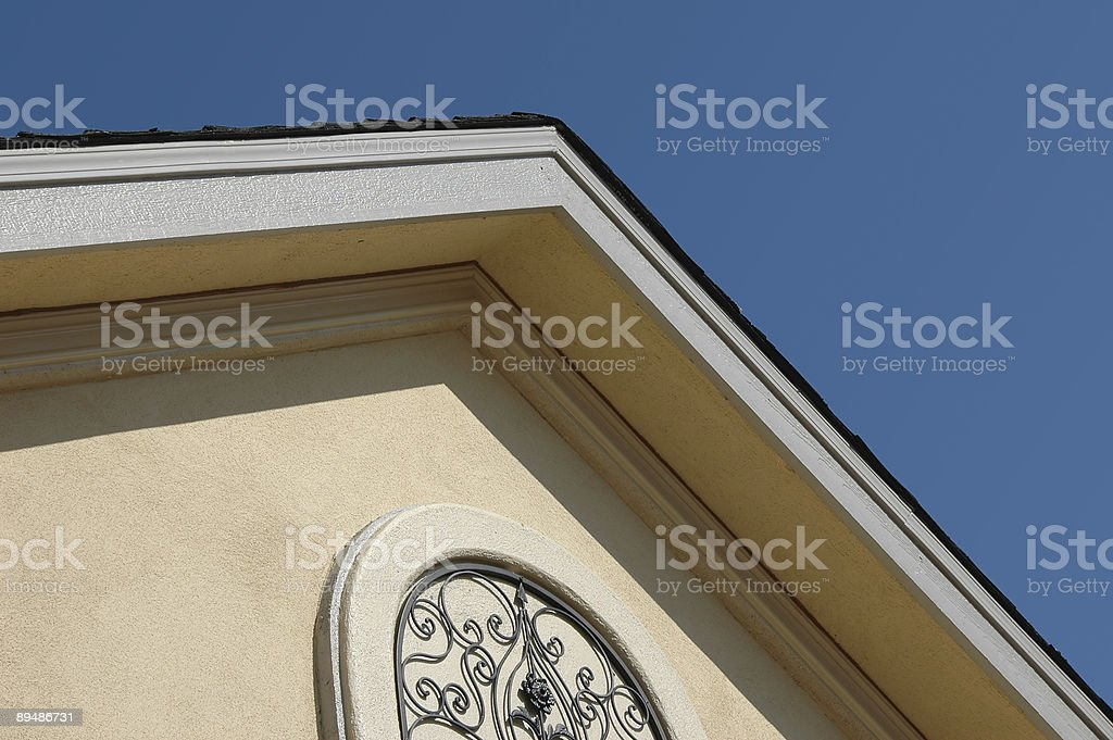 House roof top against blue sky royalty-free stock photo