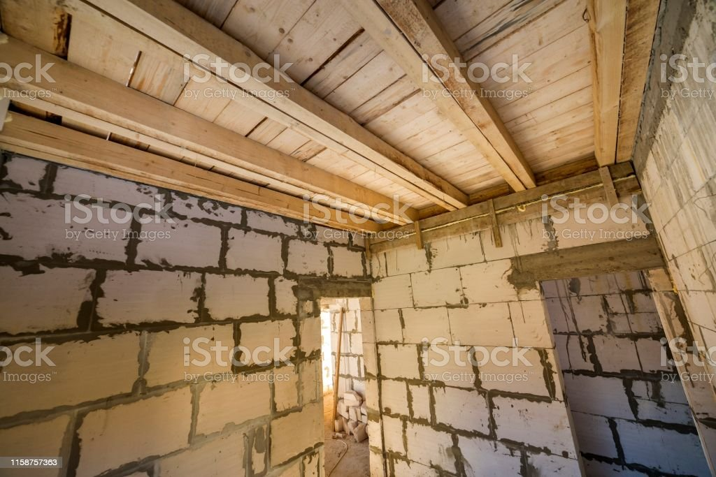 House room interior under construction and renovation. Energy saving...