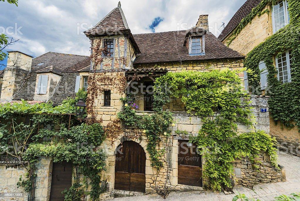 house sarlat dordogne perigord France royalty-free stock photo