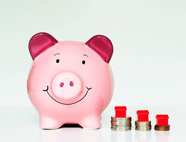 House savings stock photo