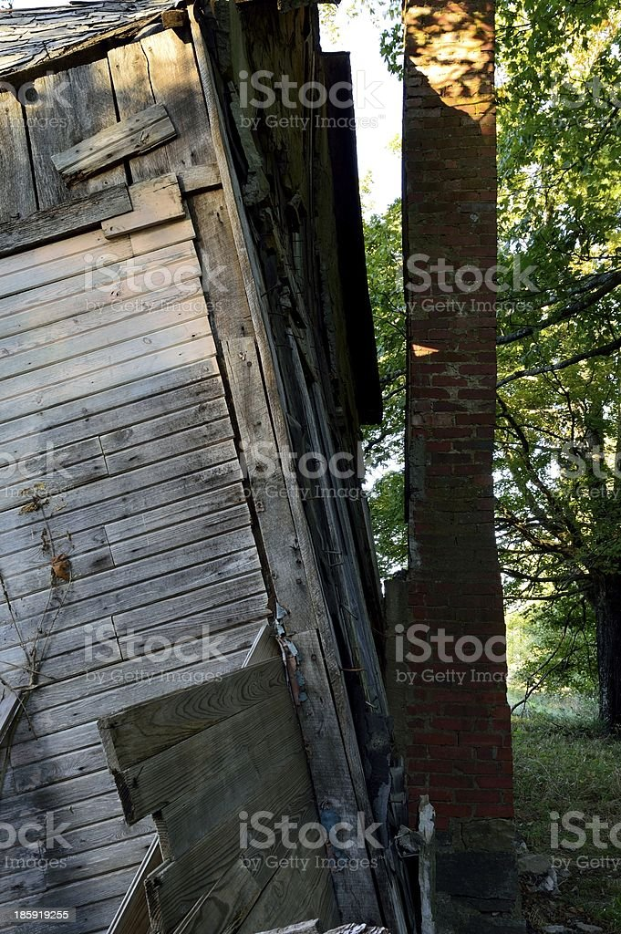 house separating from chimney royalty-free stock photo