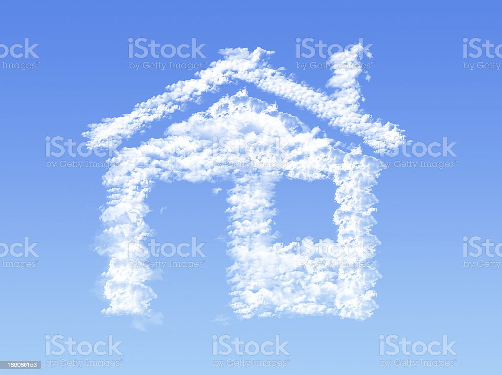 House shape clouds royalty-free stock photo