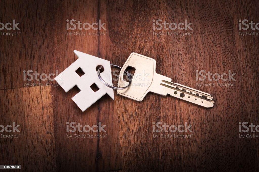 House shape key chain stock photo